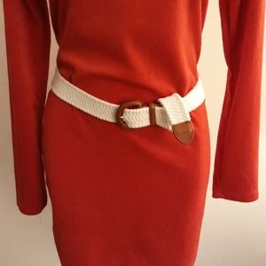 Talbots White Stretch Belt